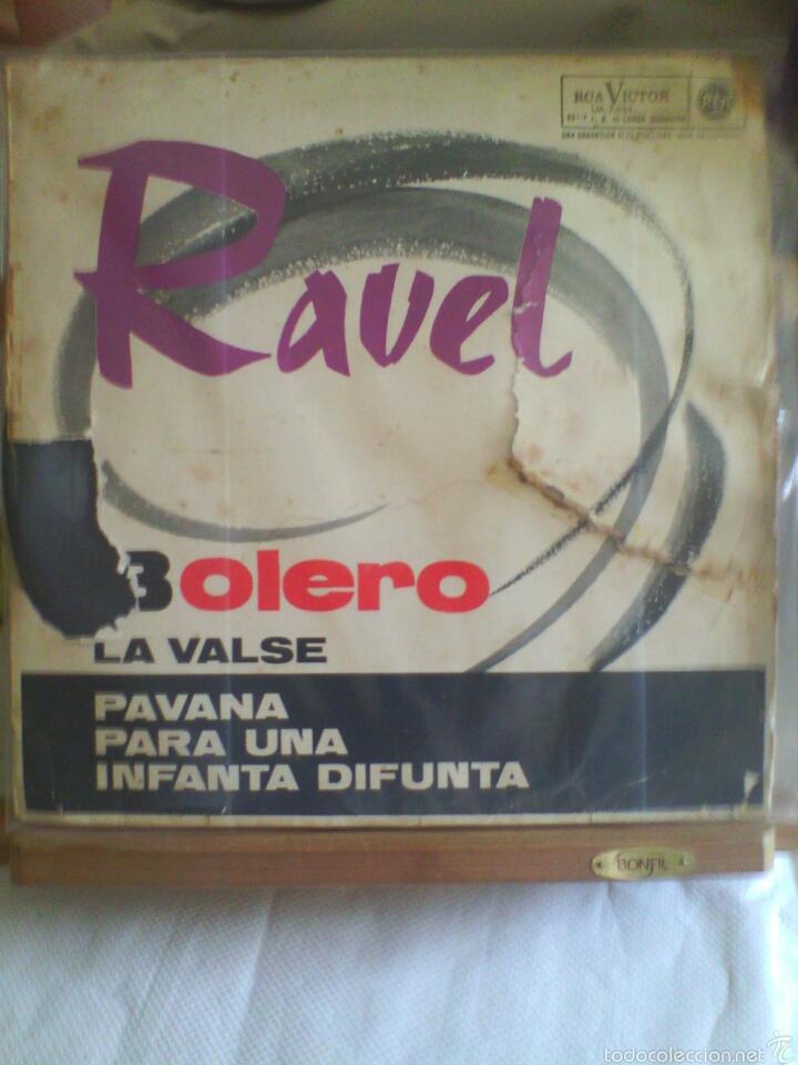 DISCO DE VINILO RAVEL: BOLERO / LA VALSE / PAVANA PARA UNA INFANTA (EDICIÓN ESPAÑOLA, 1964) (Música - Discos - LP Vinilo - Clásica, Ópera, Zarzuela y Marchas)