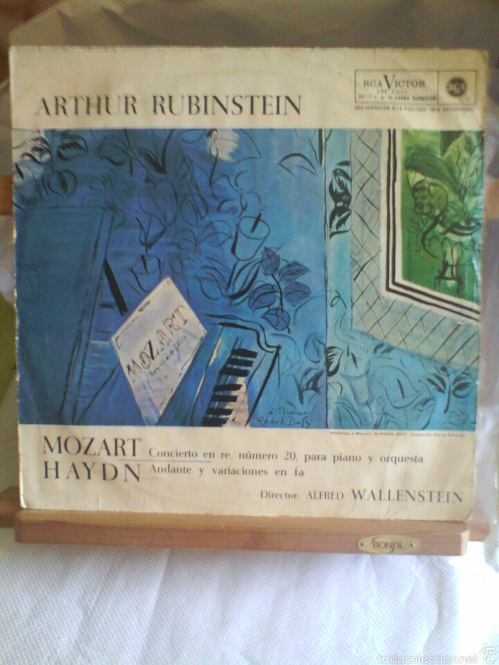 DISCO DE VINILO ARTHUR RUBINSTEIN - MOZART / HAYND (EDICIÓN ESPAÑOLA, 1964) (Música - Discos - LP Vinilo - Clásica, Ópera, Zarzuela y Marchas)