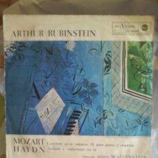 Discos de vinilo: DISCO DE VINILO ARTHUR RUBINSTEIN - MOZART / HAYND (EDICIÓN ESPAÑOLA, 1964). Lote 56943924