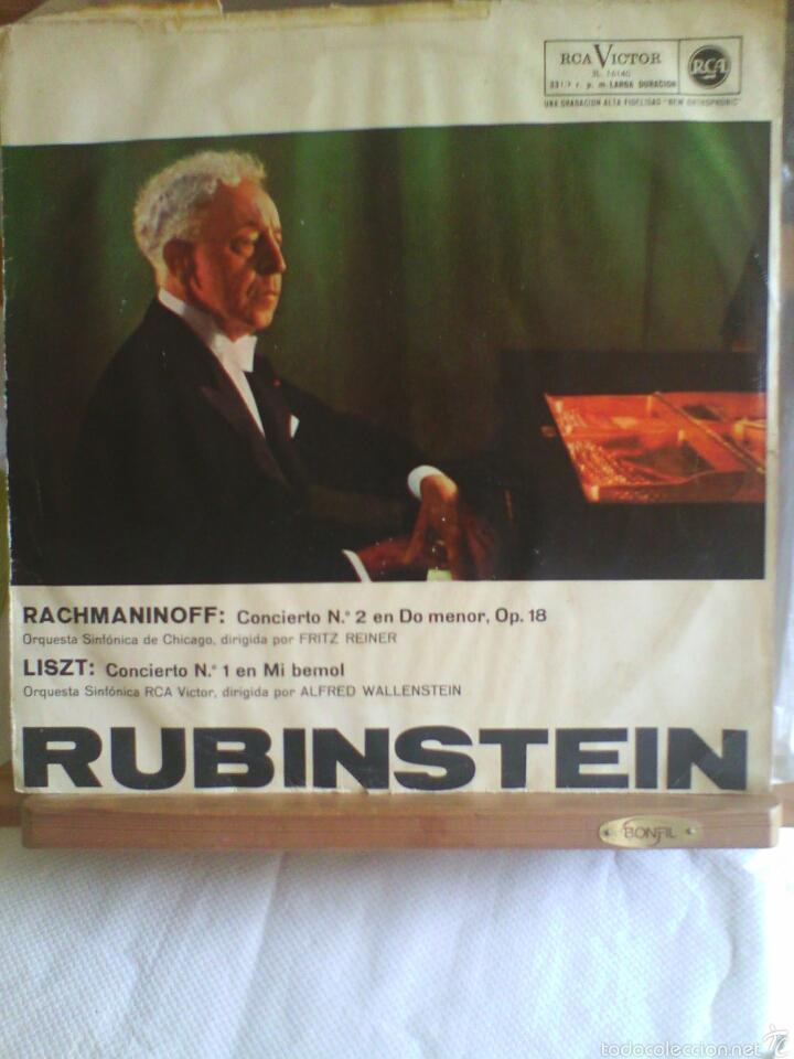 DISCO DE VINILO RUBINSTEIN - RACHMANINOFF / LISZT (EDICIÓN ESPAÑOLA, 1958) (Música - Discos - LP Vinilo - Clásica, Ópera, Zarzuela y Marchas)