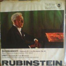 Discos de vinilo: DISCO DE VINILO RUBINSTEIN - RACHMANINOFF / LISZT (EDICIÓN ESPAÑOLA, 1958). Lote 56944006