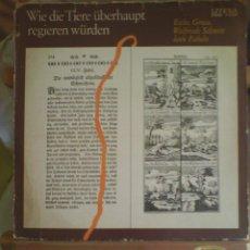 Discos de vinilo: DISCO DE VINILO WIE DIE TIERE ÜBERHAUPT REGIEREN WÜRDEN (PRINTED IN GERMANY. SIN FECHA). Lote 56944287