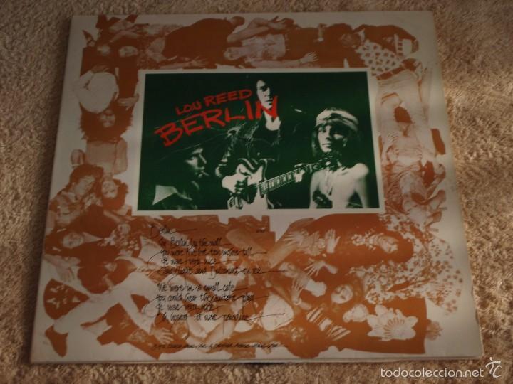 LOU REED – BERLIN, GERMANY 1973 RCA (Música - Discos - LP Vinilo - Pop - Rock - Internacional de los 70)