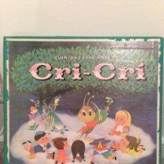 Discos de vinilo: CUENTOS Y CANCIONES DE CRI CRI FRANCISCO GABILONDO READER DIGEST RCA AÑOS 60. Lote 56947197
