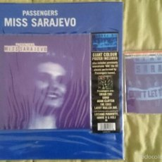 Discos de vinilo: PASSENGERS (U2, B. ENO, PAVAROTTI): MISS SARAJEVO, SINGLE LTD CON POSTER GIGANTE + CD SINGLE 4 TEMAS. Lote 194916596