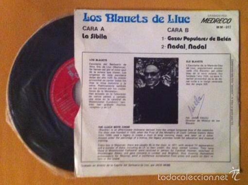 Discos de vinilo: ELS BLAVETS DE LLUC - LA SIBILA - GOIG DE NADAL - Palma de Mallorca, 1973 - Foto 2 - 56947993