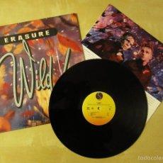 Discos de vinilo: ERASURE - WILD - VINILO ORIGINAL ALBUM PRIMERA EDICION SIRE RECORDS USA 1989. Lote 56949276