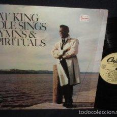 Discos de vinilo: NAT KING COLE - SINGS HYMNS AND SPIRITUALS 1966 !! RARO, EDT USA, TODO IMPECABLE. Lote 56956330