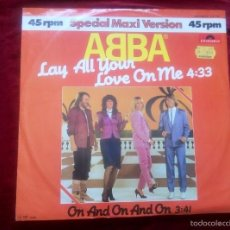 Discos de vinilo: ABBA - LAY ALL YOUR LOVE ON ME - MAXI SINGLE VINILO. Lote 56959294