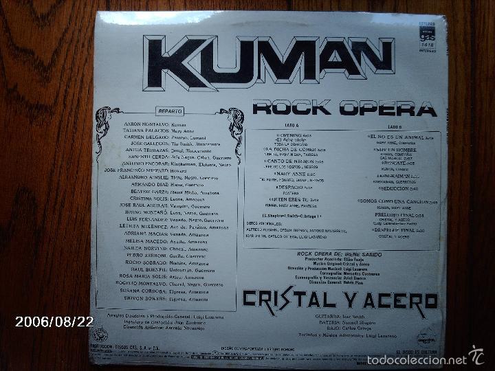 Discos de vinilo: cristal y acero - kuman - edición mexicana - precintado - Foto 2 - 56959309