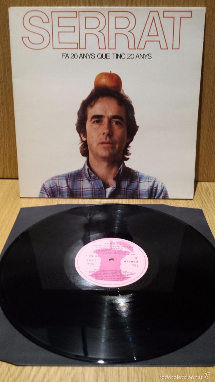 SERRAT. FA 20 ANYS QUE TINC 20 ANYS. LP-GATEFOLD / ARIOLA - 1984 / LUJO. ****/**** (Música - Discos - LP Vinilo - Cantautores Españoles)