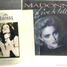 Discos de vinilo: 6 SINGLES MADONNA : LIKE A PRAYER + LIVE TO TELL + DRESS YOU UP + TRUE BLUE + PAPA + CHERISH . Lote 56967527