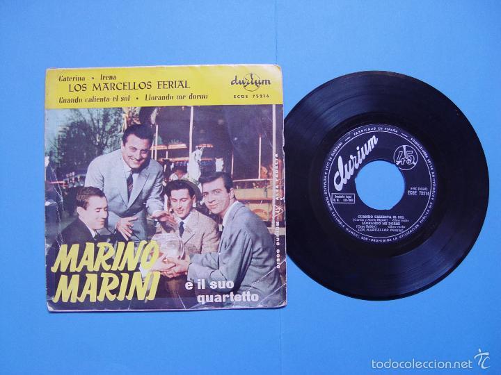 MARINO MARINI Y LOS MARCELLOS FERIAL (DURIUM, 1962) VINILO EP. ED. ESPAÑOLA ¡¡COLECCIONISTA!! (Música - Discos de Vinilo - EPs - Pop - Rock Internacional de los 50 y 60)