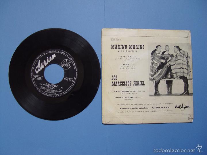 Discos de vinilo: MARINO MARINI y LOS MARCELLOS FERIAL (DURIUM, 1962) Vinilo EP. Ed. Española ¡¡COLECCIONISTA!! - Foto 2 - 56973730