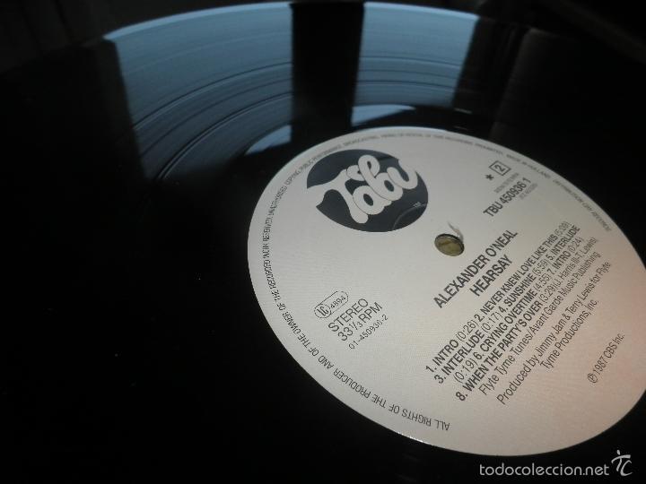 Discos de vinilo: ALEXANDER O´NEAL - HEARSAY LP - ORIGINAL HOLANDES - TABU/CBS 1987 FUNDA INT. ORIGINAL MUY NUEVO(5) - - Foto 20 - 56976242