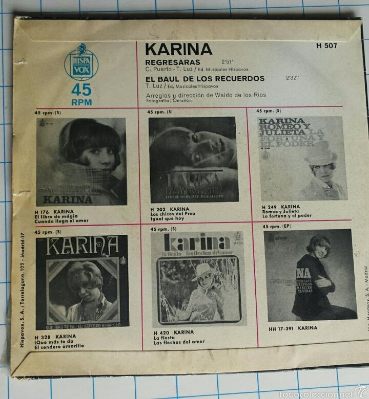 Discos de vinilo: Vinilo. Karina. El Baúl de los recuerdos. - Foto 2 - 56976403