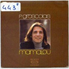 Discos de vinilo: P.GROSCOLAS / MAMALOY / DEJENME LLORAR (SINGLE 1976). Lote 56976536