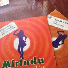 Discos de vinilo: MIGUEL RIOS-DISCO MIRINDA-EL RIO+3-2 SINGLES. Lote 56976835