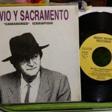 Discos de vinilo: SILVIO Y SACRAMENTO. SG CAMARÓN NUEVO PROMO. Lote 253368705