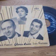Discos de vinilo: GLORIA LASSO Y LUIS MARIANO. CON FRANCK POURCEL. Lote 56978245