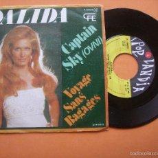 Discos de vinilo: DALIDA CAPTAIN SKY (OVNI) VOYAGE SANS BAGAGES POP LANDIA 1977 SINGLE . Lote 56982153