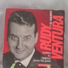 """Discos de vinilo: SINGLE 7"""" 45RPM RUDY VENTURA Y SU CONJUNTO - ZORBA EL GRIEO. Lote 56982524"""