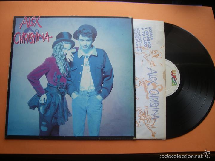 ALEX Y CHRISTINA LP 1988 WEA MOVIDA POP ROSENVINGE ALEX DE LA NUEZ CON ENCARTE (Música - Discos - LP Vinilo - Grupos Españoles de los 70 y 80)