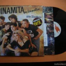 Discos de vinilo: DINAMITA PA LOS POLLOS --- SIN RODEOS // INSERTO CON LETRAS Y FOTOS LP. Lote 56982567