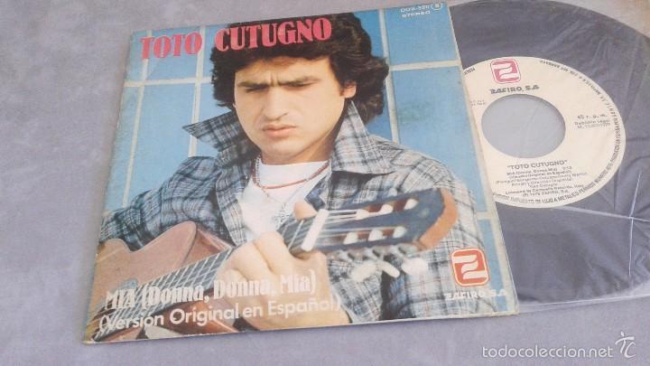 TOTO CUTUGNO.MIA.(DONNA,DONNA,MIA).SINGLE.ESPAÑA 1979.ZAFIRO. (Música - Discos - Singles Vinilo - Canción Francesa e Italiana)