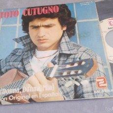 Dischi in vinile: TOTO CUTUGNO.MIA.(DONNA,DONNA,MIA).SINGLE.ESPAÑA 1979.ZAFIRO.. Lote 234349870