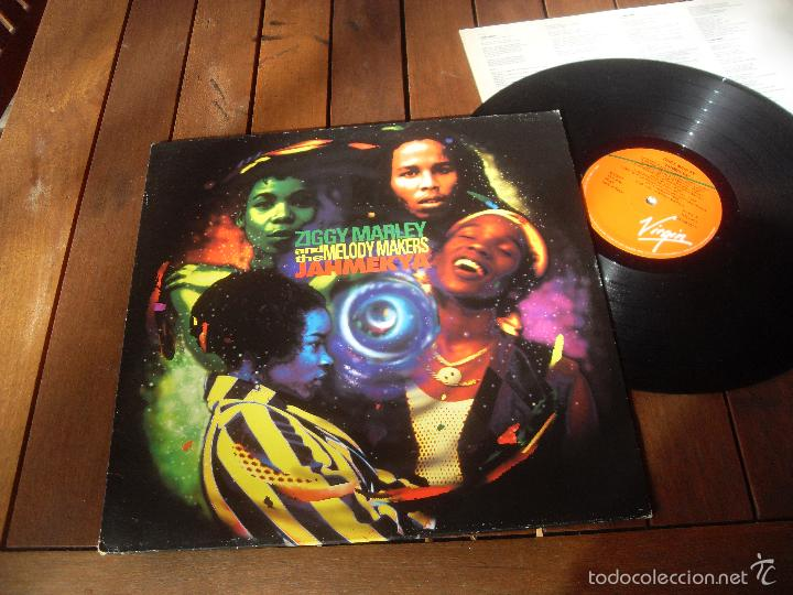 ZIGGY MARLEY LP JAHMEKYA MADE IN SPAIN 1991 (Música - Discos - LP Vinilo - Reggae - Ska)