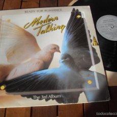 Discos de vinilo: MODERN TALKING LP READY FOR ROMANCE MADE IN SPAIN 1986. Lote 56990660