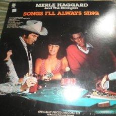 Discos de vinilo: MERLE HAGGARD - SONGS I´LL ALWAYS SING DOBLE LP - ORIGINAL U.S.A. CAPITOL 1977 GATEFOLD COVER -. Lote 56991173