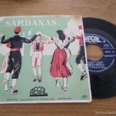 Discos de vinilo: SARDANAS LA SANTA ESPINA,BAIXANT DE LA FONT DEL GAT, CAMPRODON,SOL IXENT.LA PRINCIPAL DE LA BISBAL. Lote 56991817