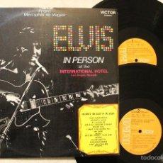 Discos de vinilo: ELVIS PRESLEY ELVIS IN PERSON 2LP VINYLS MADE IN SPAIN 1970. Lote 56993395