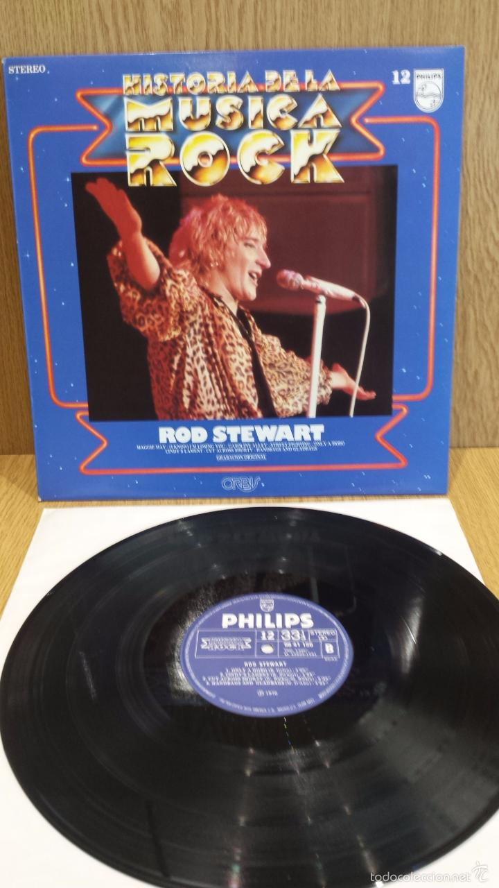 ROD STEWART. HISTORIA DE LA MÚSICA ROCK. Nº 12 / CALIDAD LUJO. ****/**** (Música - Discos - LP Vinilo - Rock & Roll)