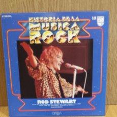 Discos de vinilo: ROD STEWART. HISTORIA DE LA MÚSICA ROCK. Nº 12 / CALIDAD LUJO. ****/****. Lote 56994499