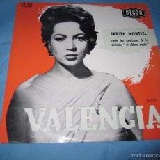 Discos de vinilo: LP ANTIGUO DE SARA MONTIEL VALENCIA. Lote 56995830