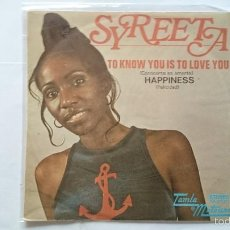 Discos de vinilo: SYREETA (FT. STEVIE WONDER) - TO KNOW YOU IS TO LOVE YOU (CONOCERTE ES AMARTE) / HAPPINESS (1972). Lote 56998242