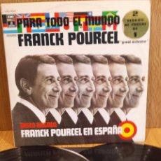 Discos de vinilo: FRANK POURCEL. PARA TODO EL MUNDO. DOBLE LP-GATEFOLD / EMI-ODEON - 1975 / LUJO. ****/****. Lote 57000467