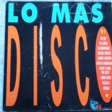 Discos de vinilo: LO MAS DISCO 91(ROZALLA,CHIMO BAYO Y OTROS) DOBLE LP. Lote 57009204