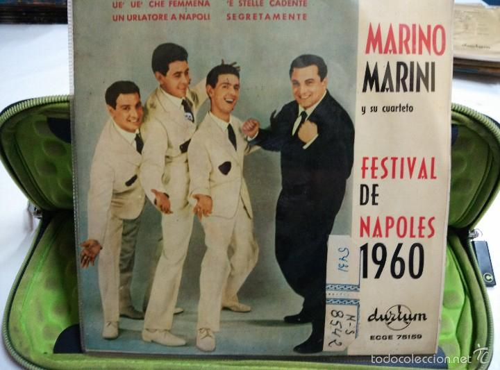 MARINO MARINI EP UE UE CHE FEMMENA 2* PREMIO NAPOLES 1960 (Música - Discos de Vinilo - EPs - Canción Francesa e Italiana)