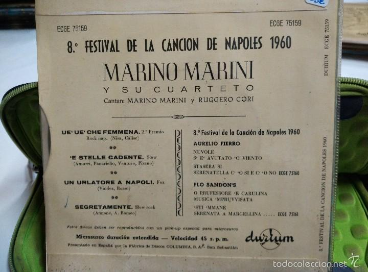 Discos de vinilo: MARINO MARINI EP UE UE che femmena 2* premio napoles 1960 - Foto 2 - 57010930