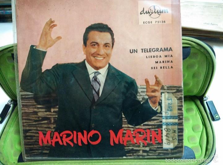 MARINO MARINI EP UN TELEGRAMA (Música - Discos de Vinilo - EPs - Canción Francesa e Italiana)