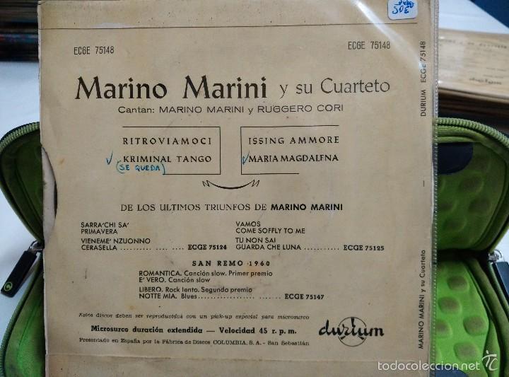 Discos de vinilo: MARINO MARINI EP ritroviamoci - Foto 2 - 57011380