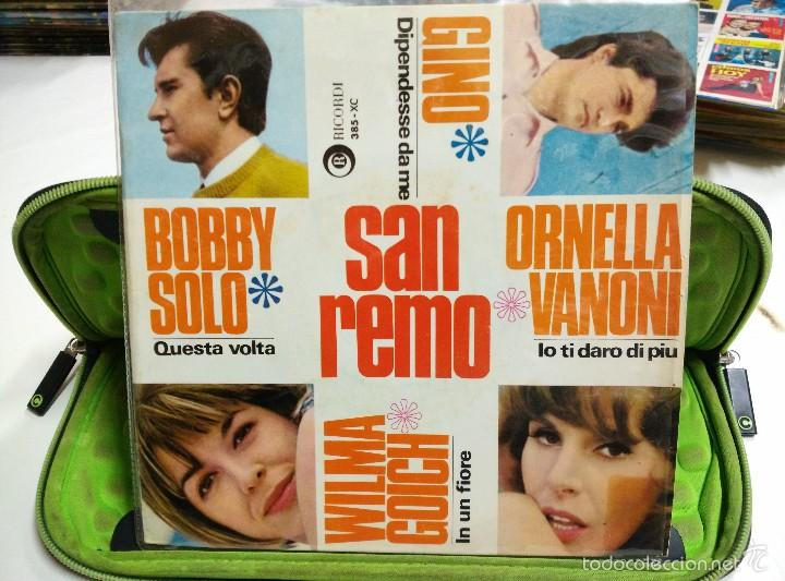 BOBBY SOLO WILMA GOICH ORNELLA VANONI FINO EP QUESTA VOLTA SANO REMO 1966 (Música - Discos de Vinilo - EPs - Canción Francesa e Italiana)