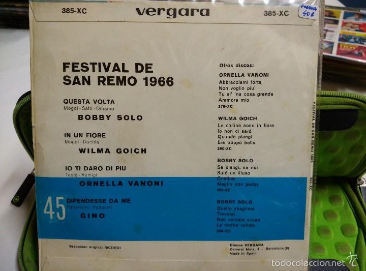 Discos de vinilo: Bobby Solo Wilma Goich ornella Vanoni fino EP questa volta sano remo 1966 - Foto 2 - 57011666