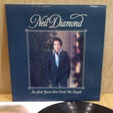 Discos de vinilo: NEIL DIAMOND / I'M GLAD YOU'RE HERE WITH ME TONIGHT / LP / CBS-1977 / LUJO. ****/****. Lote 57013342