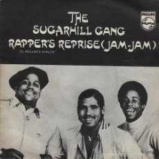 Discos de vinil: SUGARHILL GANG - RAPPER'S REPRISE SPANISH SINGLE 45 SPAIN 1980 OLD SKOOL RAP. Lote 57019793