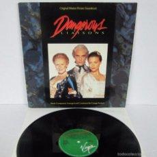 Discos de vinilo: BSO - DANGEROUS LIAISONS / LAS AMISTADES PELIGROSAS - LP - VIRGIN 1988 SPAIN - N MINT. Lote 57019985